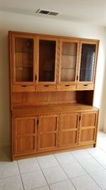 "Beautiful ""dScan"" Danish Modern 2 piece Hutch Loads of Storage and display!"