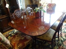 Century Dining Room Table with 6 Chairs