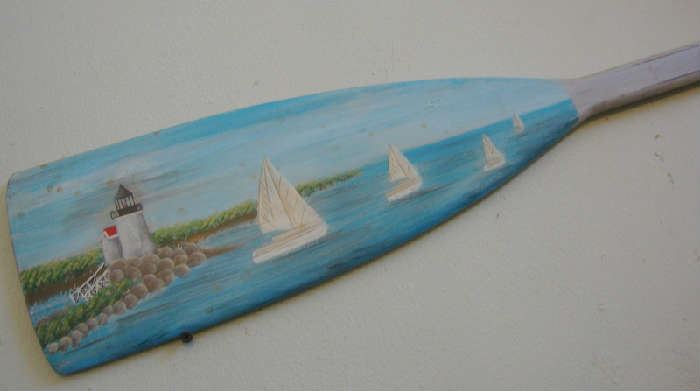 Hand Painted Boat Paddle