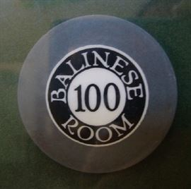 Original Balinese Room Poker Chip - Hard to find $100 Chip