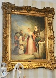 "1852 painting attributed to Joseph Nicolas Jouy Measurements with frame: 11"" x 13"" Without Frame: 9 1/2"" x 6 1/2"""