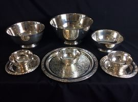 Paul Revere Silver Plate Bowls