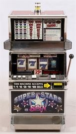 "IGT, ""SUPER STAR SPIN"", SLOT MACHINE, #1204771, 1977, H 44'', W 22'', L 20''"
