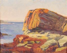 artwork S R Knox rocky shore