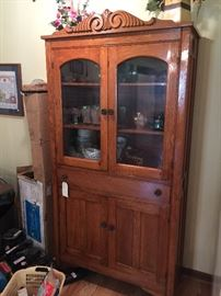 Early 1900 Wolfe Bros. Oak Cabinet, made in Piney, TN
