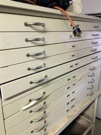 Architect type storage cabinet