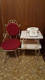 Telephone seat and table