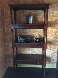 "86. Open Bookcase w/ 3 Drawers (36"" x 15"" x 75"")"