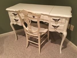 "100. French Provincial Cream Colored Vanity (43"" x 18"" x 31"")"