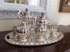 Huge Maciel sterling silver tea/coffee service