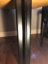 Knoll Black Metal Table Legs