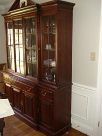Link Taylor Mahogany china cupboard
