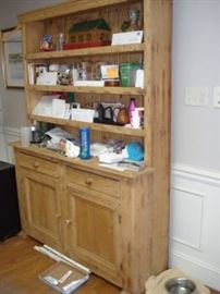 Irish Pewter cupboard , made of pine