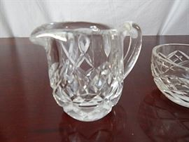 Crystal Water Pitcher, Covered Dish, Frosted Glass Plate  https://www.ctbids.com/#!/description/share/2570