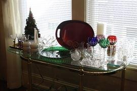 Bohemian Glasses- cut glass