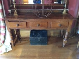 Antique 3 drawer console