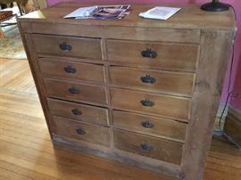 Vintage 10 drawer cabinet