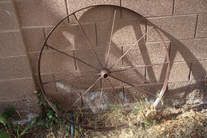 Family's  grandparents wheel ~ authentic wagon wheel