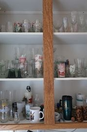 Lots of vintage glass