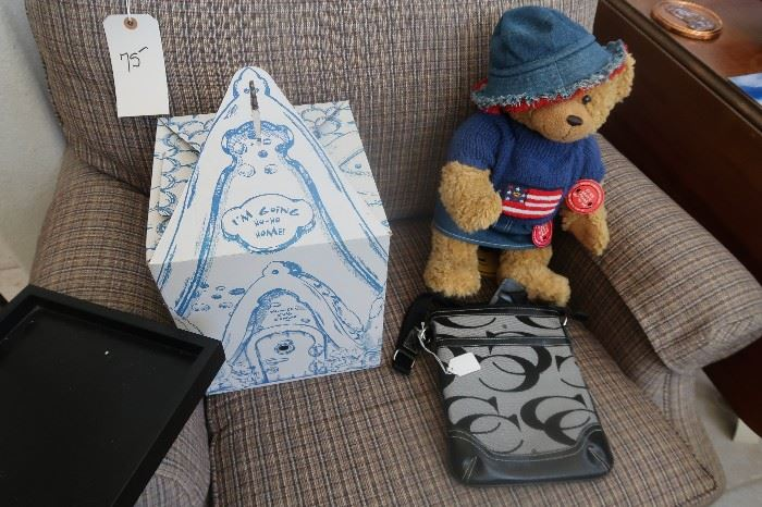 Build a Bear  and Coach bag