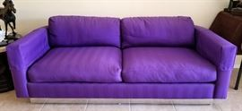 Vintage Martin Brattrud down sofa w/chrome trim