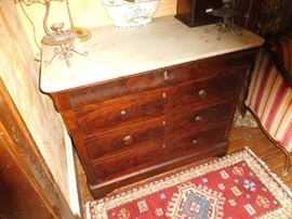True Empire marble-top bureau