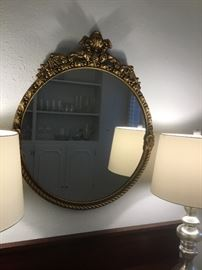 Antique gold mirror.  31 inches top to bottom $380