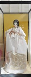 Korean doll in traditional dress