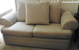 Loveseat with cushions reversed