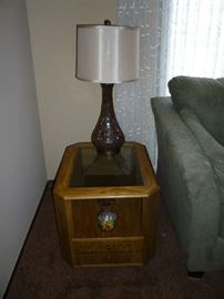 END TABLE & LAMP (BOTH 1 OF 2)