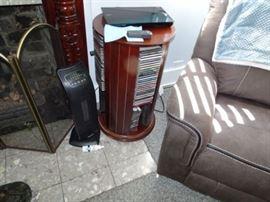 Mahogany CD/DVD Rack, Pelonis Ceramic Heater