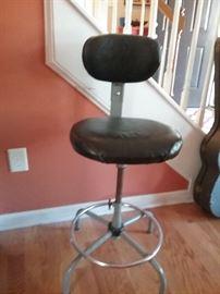 Vintage metal stool...SOLD