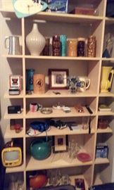 Collectibles including pottery, tikis, etc.