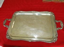 LARGE SILVERPLATED PLATTER