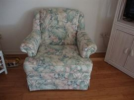 Floral pattern chair