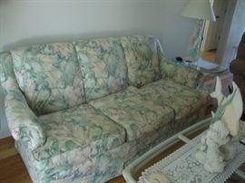 Matching floral sofa