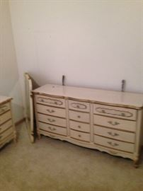 French Provincial! With mirror! 2 nightstands also available! Even a Twin size canopy bed!