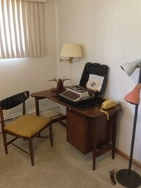 Merton Gershun American of Martinsville Dania Desk and chair with other office items!