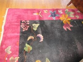 Vintage wool Chinese area rug
