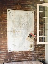 Antique Trolley and Railroad Map of Chattanooga Tennessee. Not Responsible for Accidents. Cash only sale.  ALL SALES ARE FINAL! Bring Help to Load Large Items.