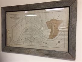 Antique map of Chattanooga, Tennessee. Cash only sale. Bring Help to Load Large Items.