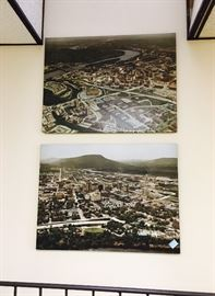 Circa 1970's Large photographs of Chattanooga Tennessee.  Cash only sale. Bring Help to Load Large Items.