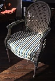 Pair of French Silk chairs