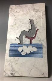 "Signed Jim Collins Sculpture the ""Cloud Watcher"""