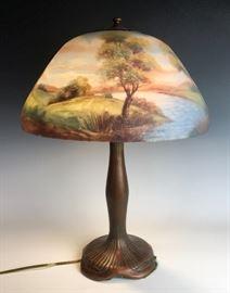 Signed Moe Bridges table lamp C.1920's