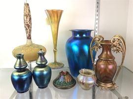 TiffANY,  MT. WASHINGTON, LOETZ ART GLASS