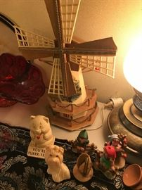 vintage windmill lamp and smalls