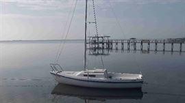21 ft Swing keel sailboat