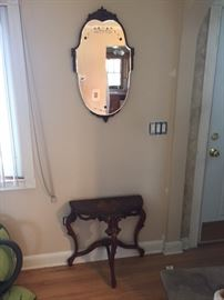 Butterfly table & mirror