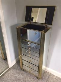 mirrored jewelry cabinet